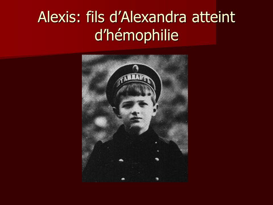 Alexis: fils dAlexandra atteint dhémophilie