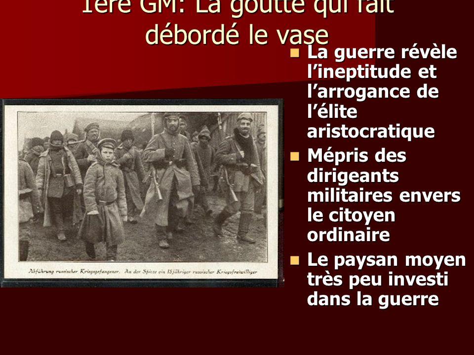 Révolution de novembre(cont) Police politique: CHEKA Police politique: CHEKA Armée révolutionaire créée, Trotsky à la tête: larmée rouge Armée révolutionaire créée, Trotsky à la tête: larmée rouge En mars 1918, le parti bolchévique prend le nom de parti communiste En mars 1918, le parti bolchévique prend le nom de parti communiste