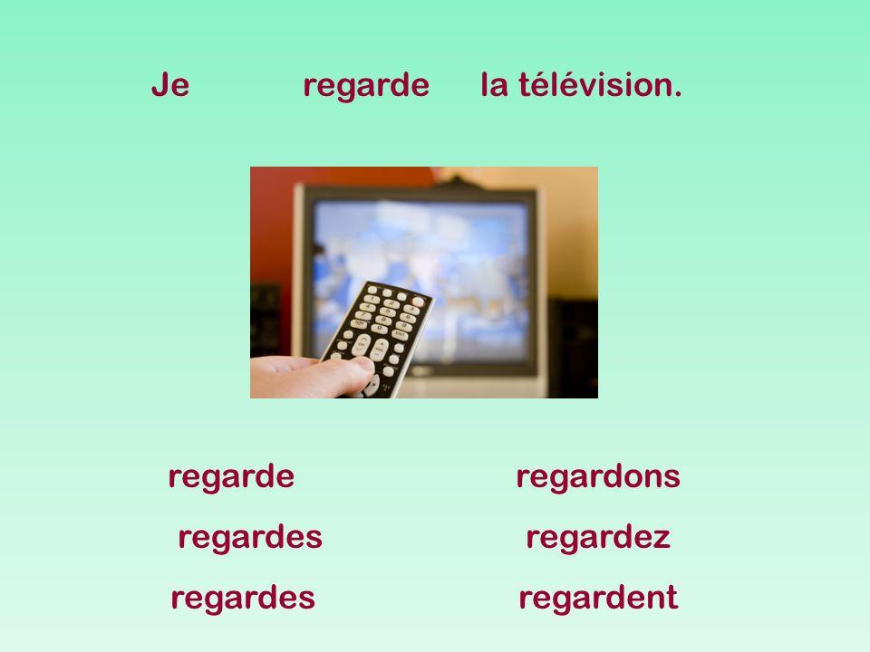 Jeregardela télévision. regarderegardons regardesregardez regardesregardent