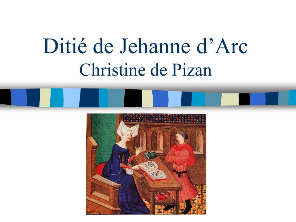 Ditié de Jehanne dArc Christine de Pizan