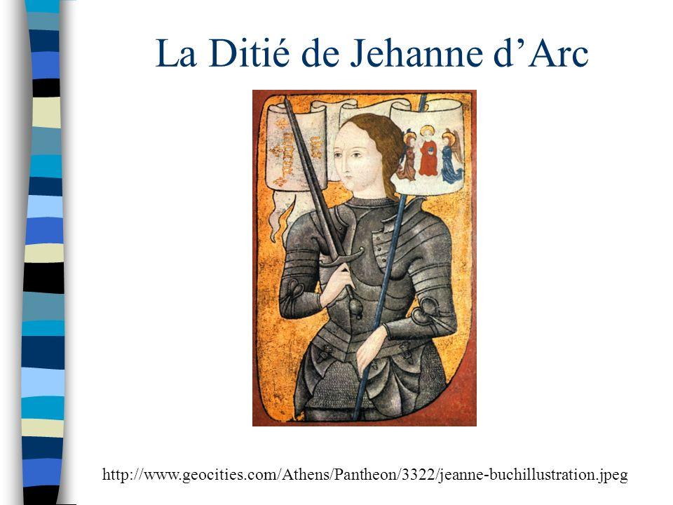 La Ditié de Jehanne dArc http://www.geocities.com/Athens/Pantheon/3322/jeanne-buchillustration.jpeg