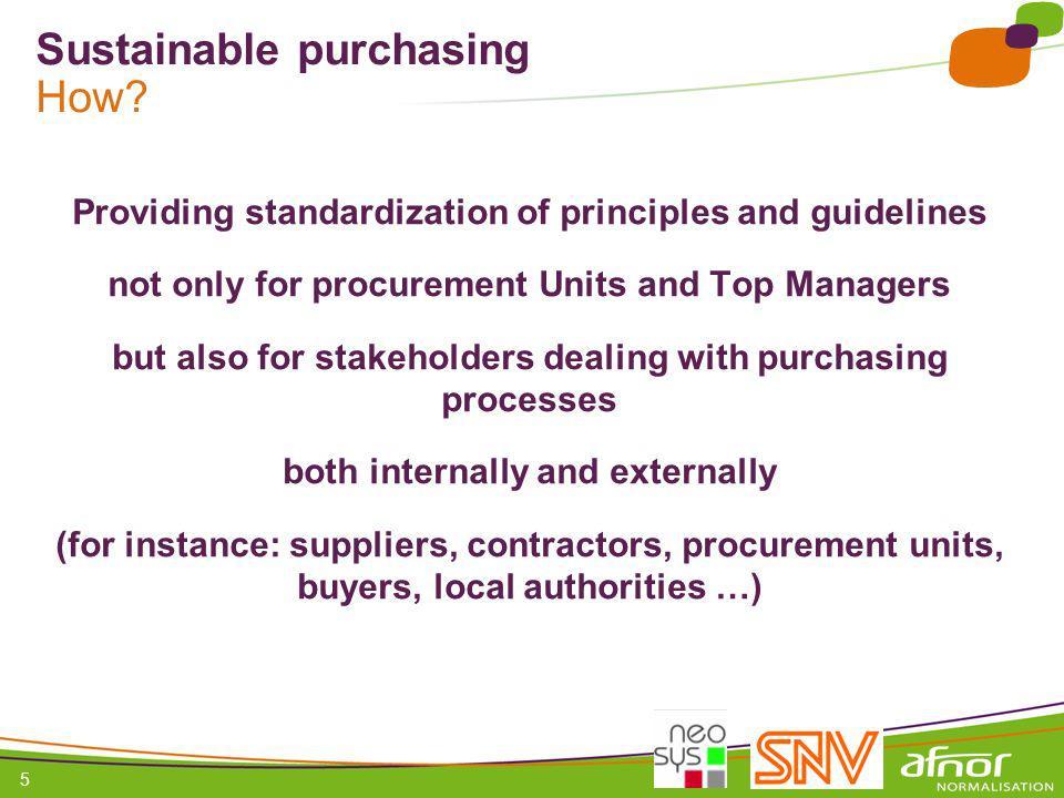 1 / Pour personnaliser les références : Affichage / En-tête et pied de page Personnaliser la zone Pied de page, Faire appliquer partout 5 Sustainable purchasing How.