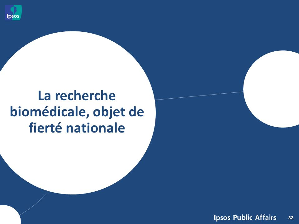 32 La recherche biomédicale, objet de fierté nationale