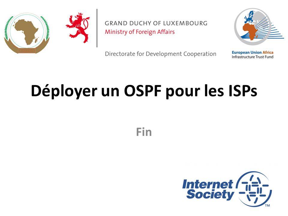 Déployer un OSPF pour les ISPs Fin 47