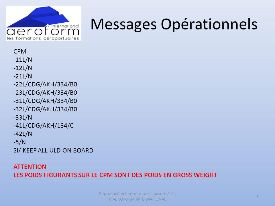 Messages Opérationnels CPM -11L/N -12L/N -21L/N -22L/CDG/AKH/334/B0 -23L/CDG/AKH/334/B0 -31L/CDG/AKH/334/B0 -32L/CDG/AKH/334/B0 -33L/N -41L/CDG/AKH/13