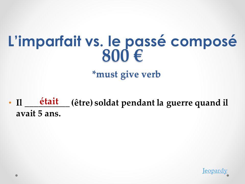Jeopardy Limparfait vs.
