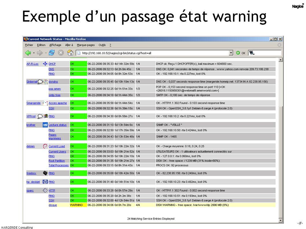 37 MARGERIDE Consulting Exemple dun passage état warning