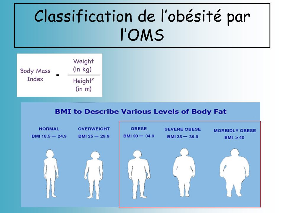 Classification de lobésité par lOMS