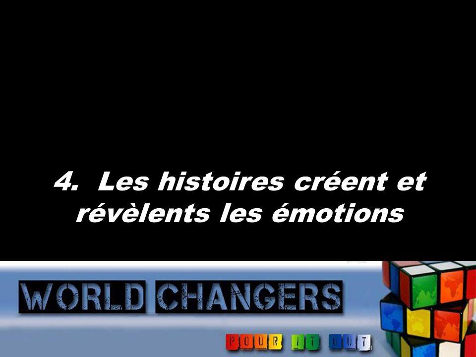 4. Les histoires créent et révèlents les émotions