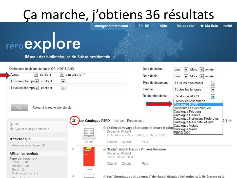 Ça marche, jobtiens 36 résultats 15http://www.unine.ch/bibliotheque