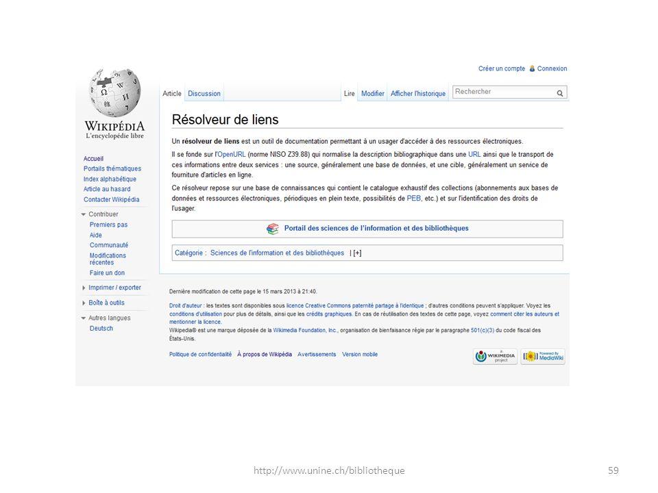 59http://www.unine.ch/bibliotheque
