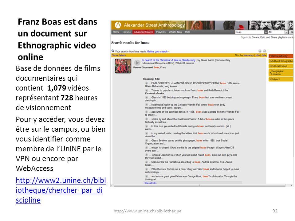 Franz Boas est dans un document sur Ethnographic video online Base de données de films documentaires qui contient 1,079 vidéos représentant 728 heures