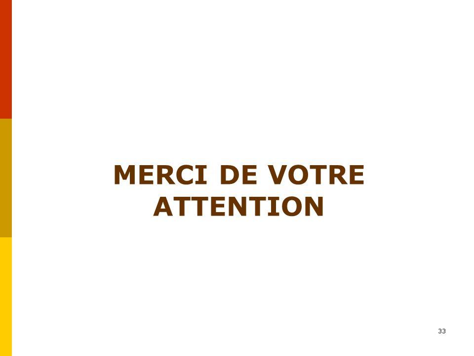 MERCI DE VOTRE ATTENTION 33