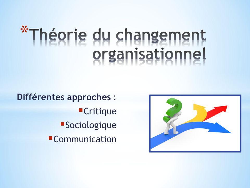 Différentes approches : Critique Sociologique Communication