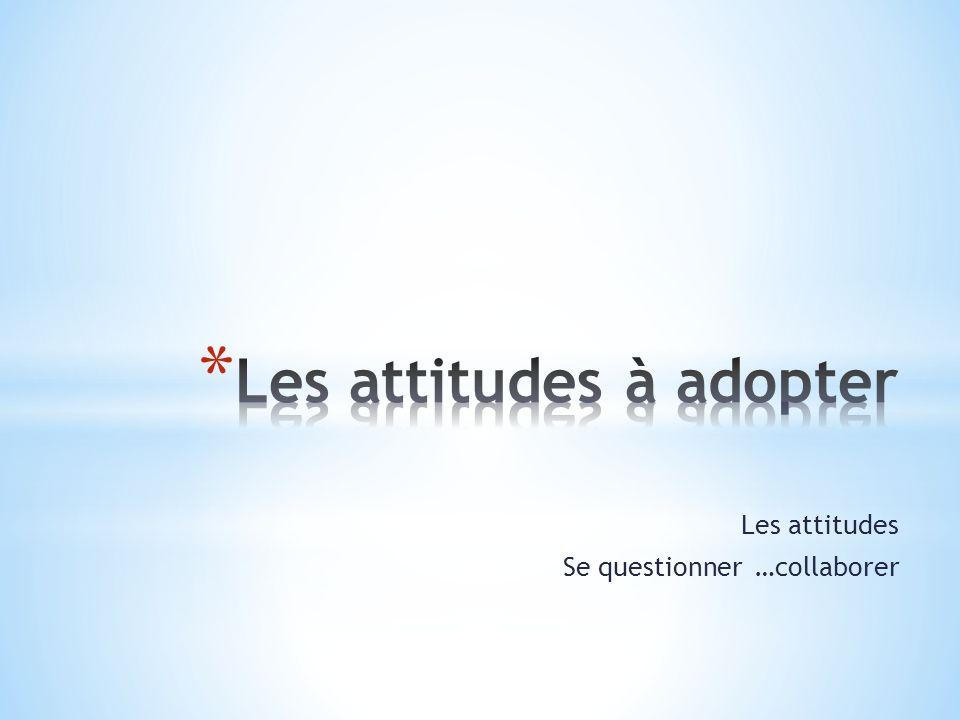 Les attitudes Se questionner …collaborer