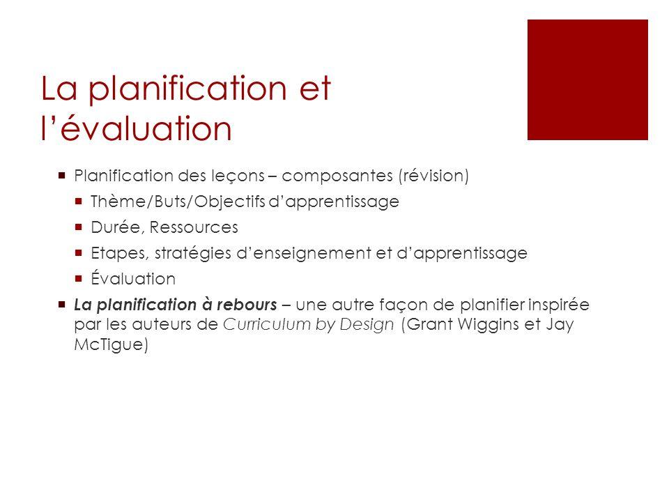 http://www.youtube.com/watch?v=dSSeuem6B LA La planification à rebours 2005 2013