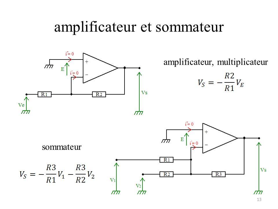amplificateur et sommateur amplificateur, multiplicateur sommateur 13