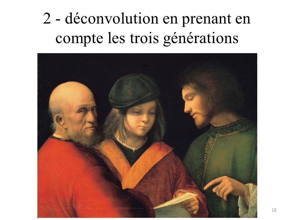 2 - déconvolution en prenant en compte les trois générations 18