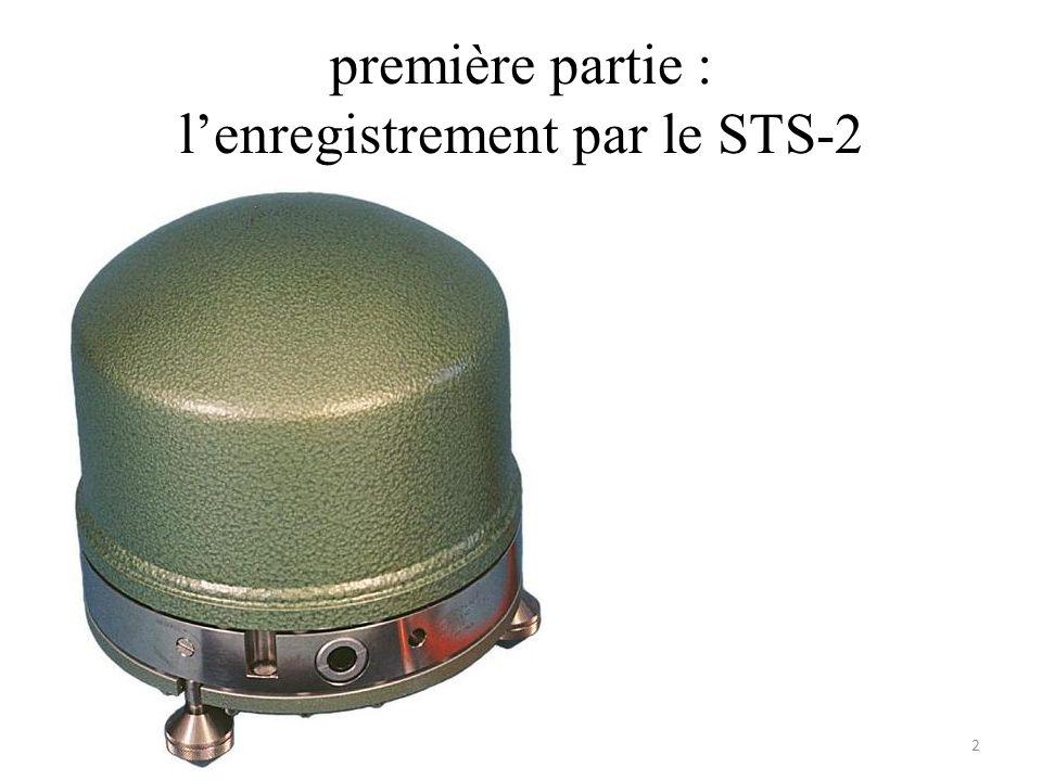 première partie : lenregistrement par le STS-2 2