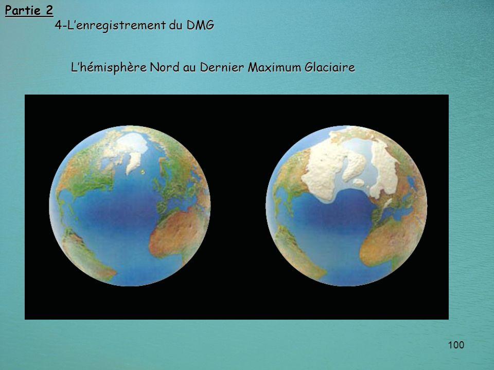 100 Lhémisphère Nord au Dernier Maximum Glaciaire Partie 2 4-Lenregistrement du DMG