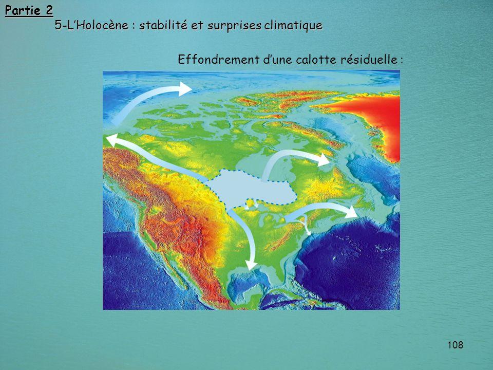 108 Effondrement dune calotte résiduelle : Partie 2 5-LHolocène : stabilité et surprises climatique