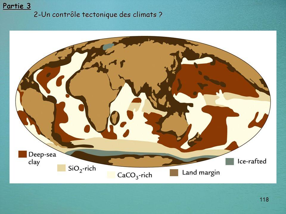 118 Partie 3 2-Un contrôle tectonique des climats ? 2-Un contrôle tectonique des climats ?