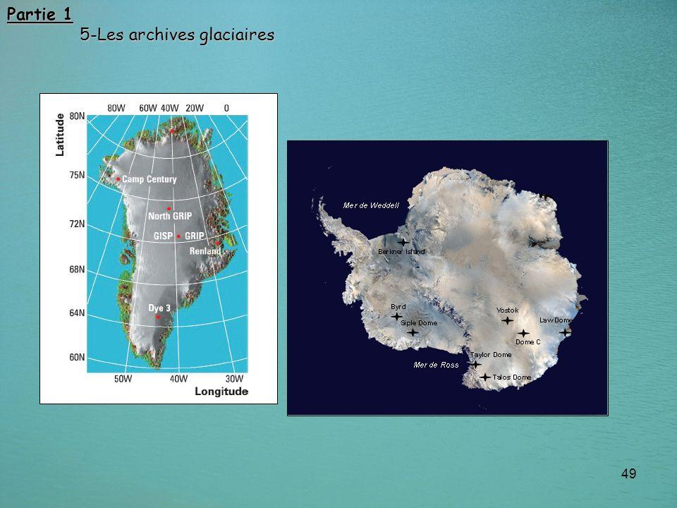 49 Partie 1 5-Les archives glaciaires 5-Les archives glaciaires