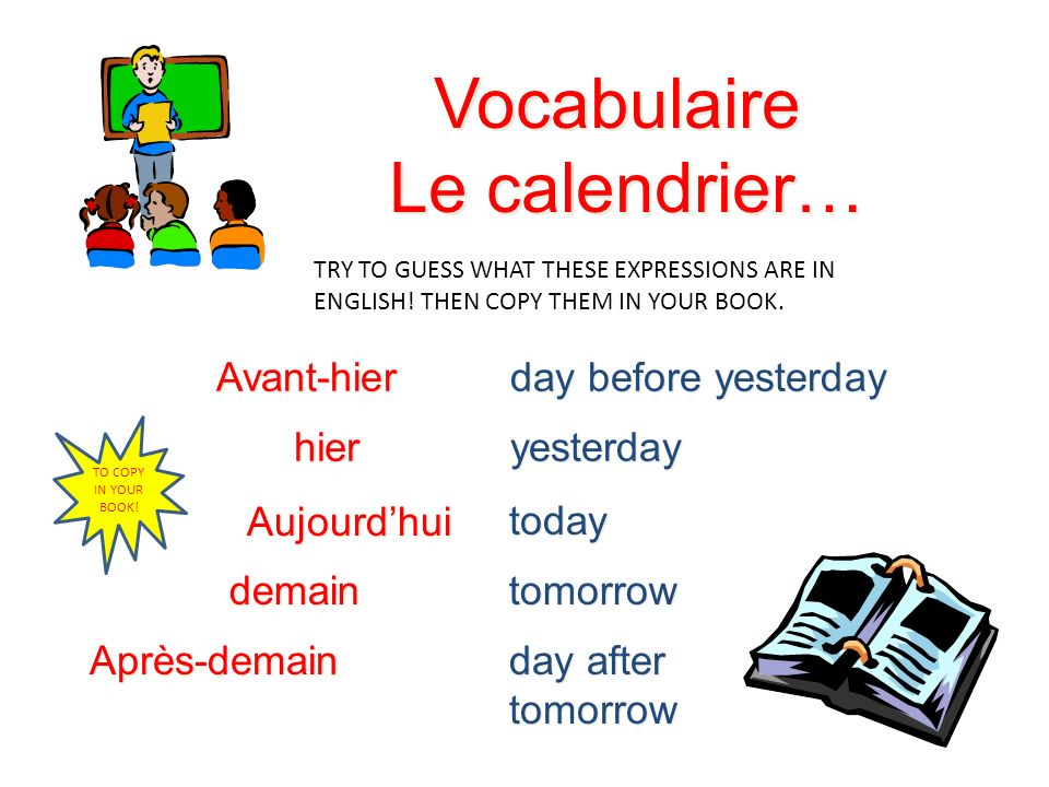 Les jours de la Semaine Le lundi Le mardi Le mercredi Le jeudi Le vendredi Le samedi Le dimanche days of the week are not capitalized all days are mas