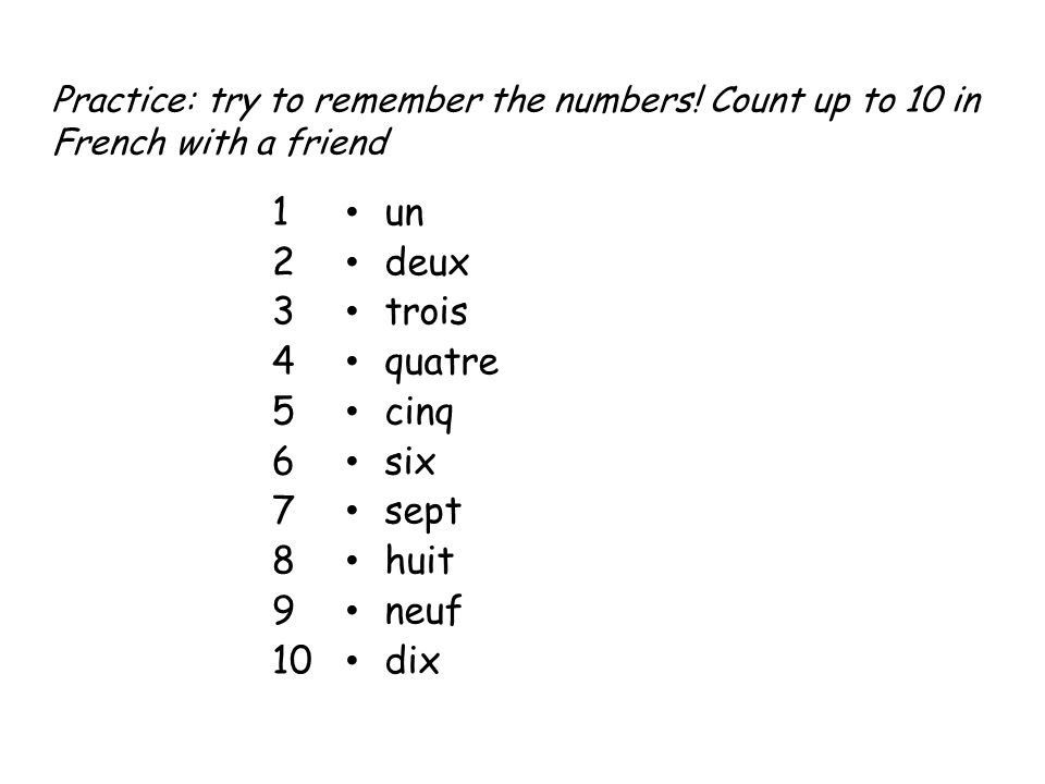How would you spell your name in French.