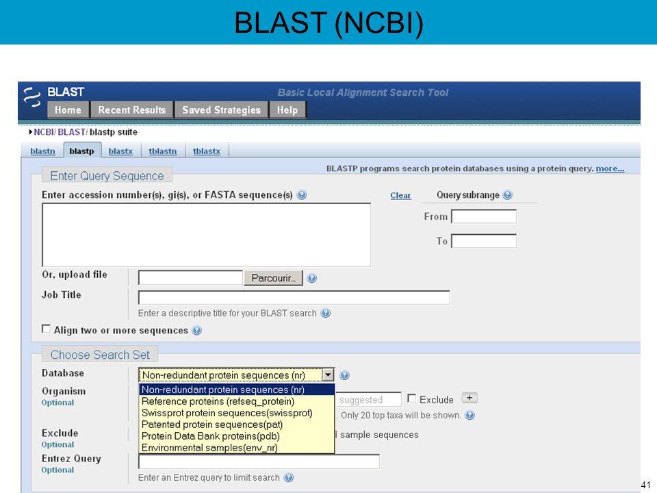 BLAST (NCBI) 41