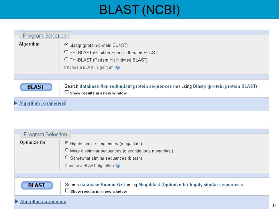 BLAST (NCBI) 42