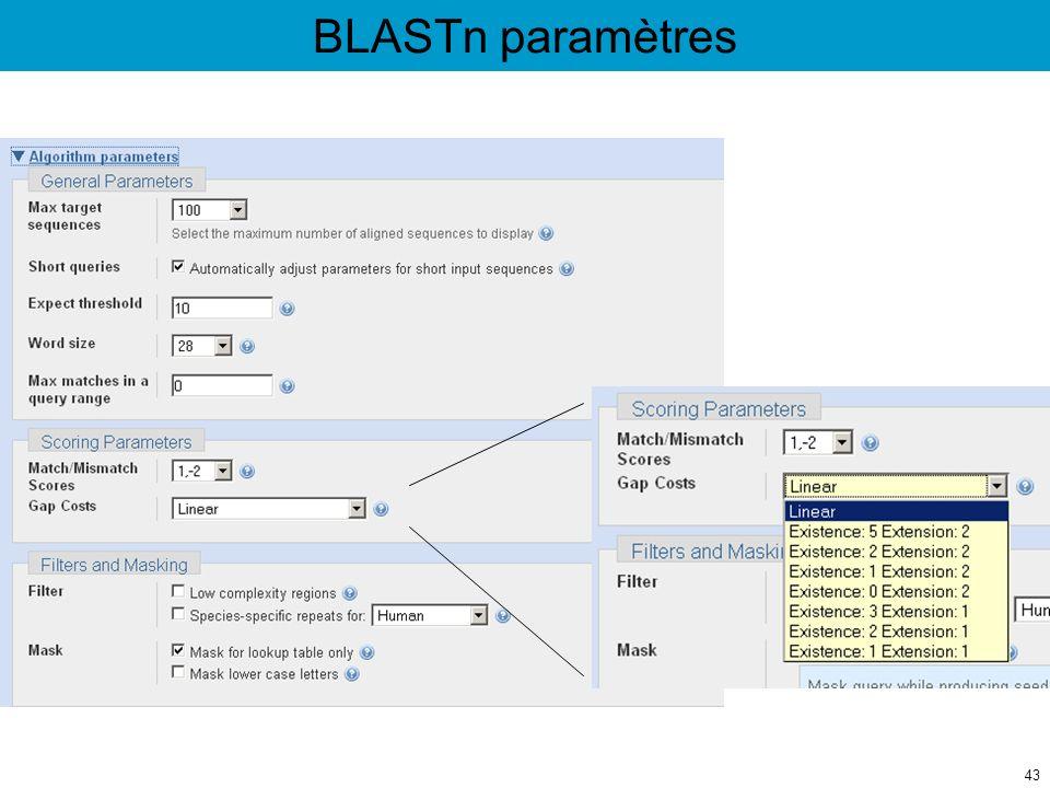 BLASTn paramètres 43