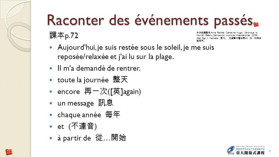 Raconter des événements passés p.72 le musée Matisse 5 Wikimedia Commons Georges Jansoone Annie Berthet, Catherine Hugot, Véronique M.