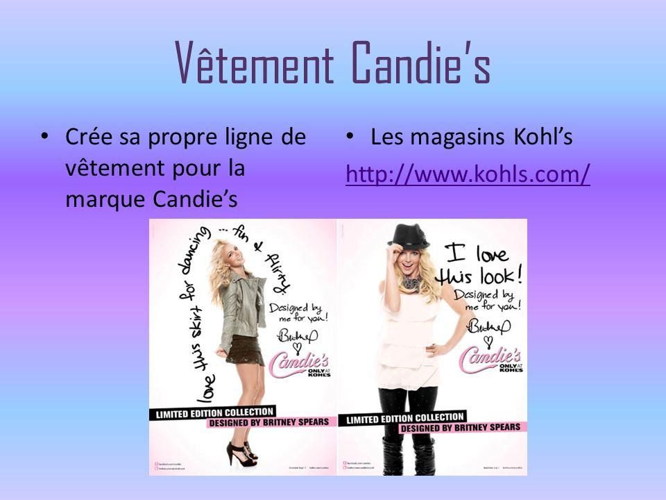 Vêtement Candies Crée sa propre ligne de vêtement pour la marque Candies Les magasins Kohls http://www.kohls.com/
