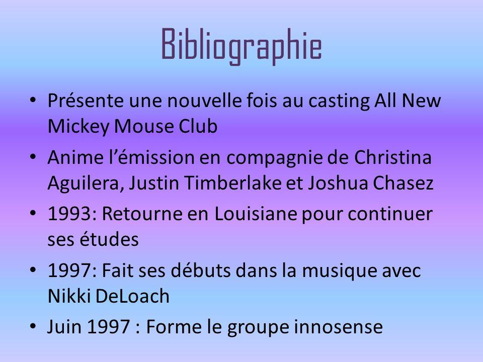 Bibliographie Présente une nouvelle fois au casting All New Mickey Mouse Club Anime lémission en compagnie de Christina Aguilera, Justin Timberlake et
