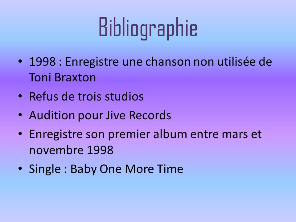 Albums 1999: Baby One More Time 2000: Oops!...