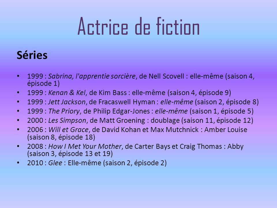 Actrice de fiction Séries 1999 : Sabrina, l'apprentie sorcière, de Nell Scovell : elle-même (saison 4, épisode 1) 1999 : Kenan & Kel, de Kim Bass : el