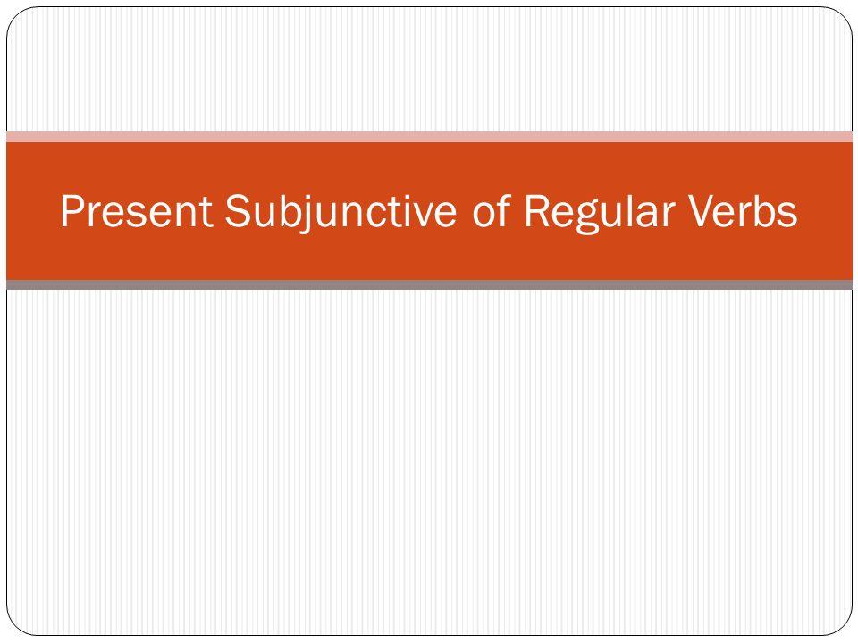 Review of present tense conjugations of regular verbs