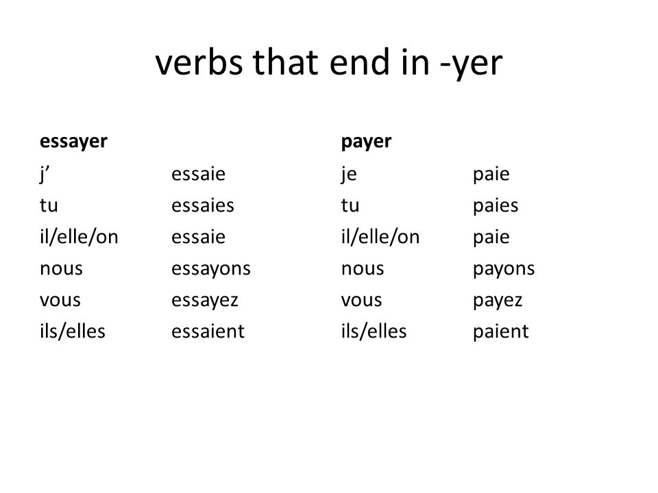 conjugation of essayer