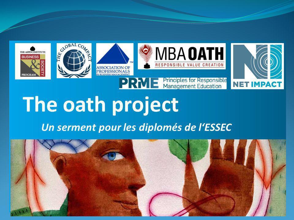 Un serment pour les diplomés de lESSEC The oath project