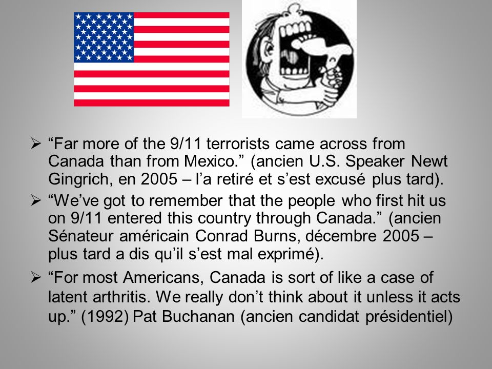 Far more of the 9/11 terrorists came across from Canada than from Mexico.