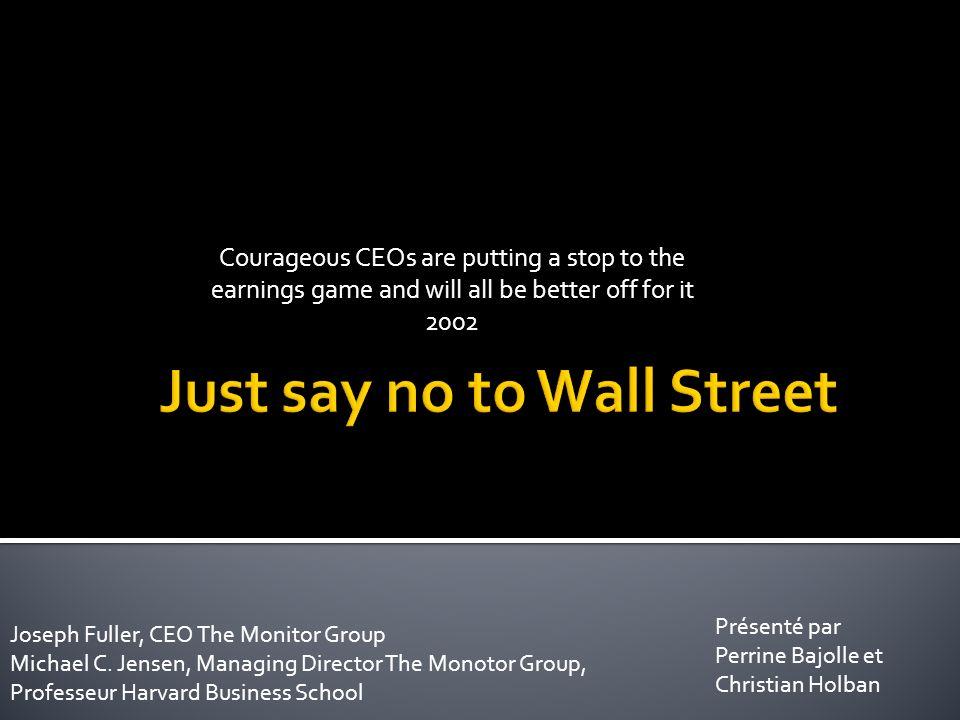 4.Ils doivent être transparents auprès des investisseurs et du marché 5.