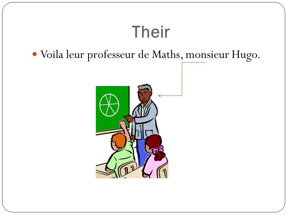 Their Voila leur professeur de Maths, monsieur Hugo.