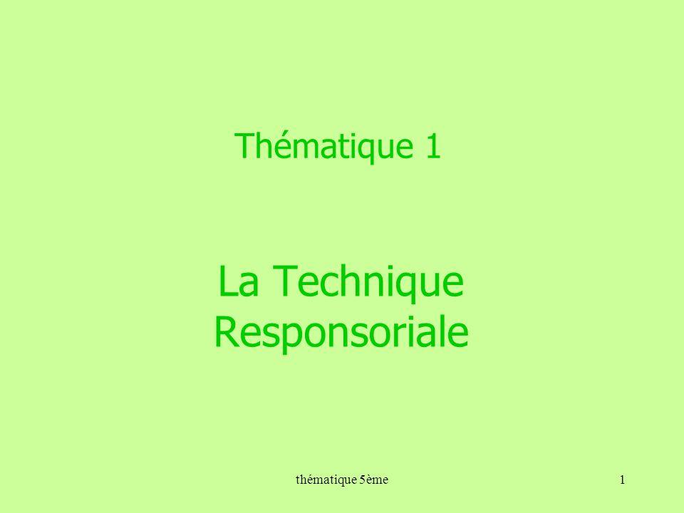 Thématique 1 La Technique Responsoriale 1thématique 5ème