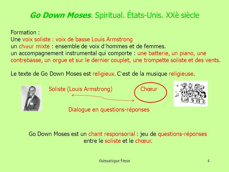 Go Down Moses.Spiritual. États-Unis.
