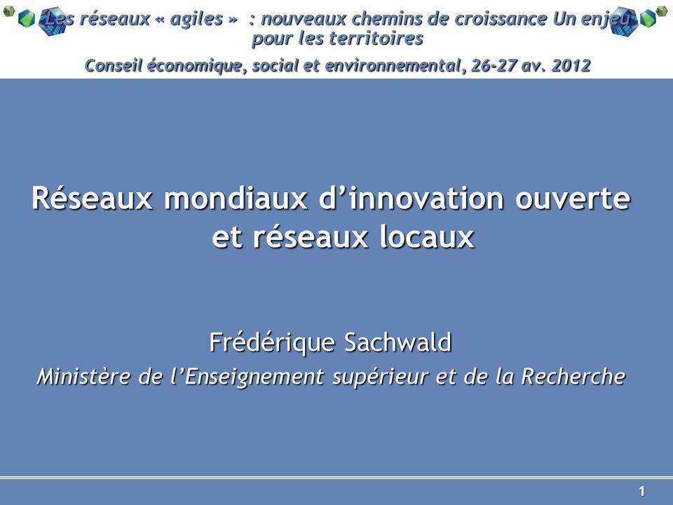 1 Les réseaux « agiles » : nouveaux chemins de croissance Un enjeu pour les territoires Conseil économique, social et environnemental, 26-27 av.