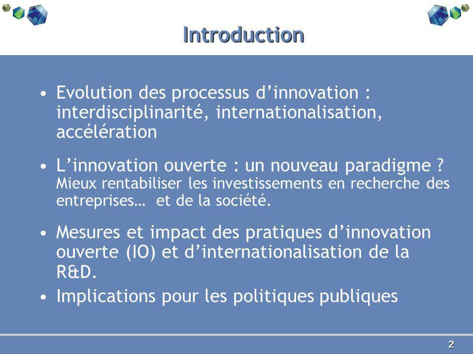 3 Les dépenses de R&D dans le monde, 2009 Montant R&D, dollars constants 2000 Source : OCDE 2011