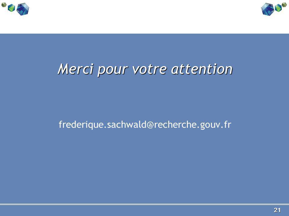 21 Merci pour votre attention frederique.sachwald@recherche.gouv.fr