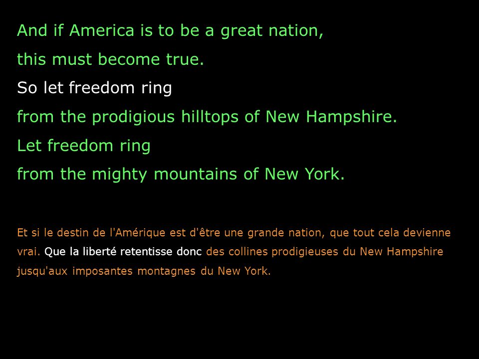 And if America is to be a great nation, this must become true.