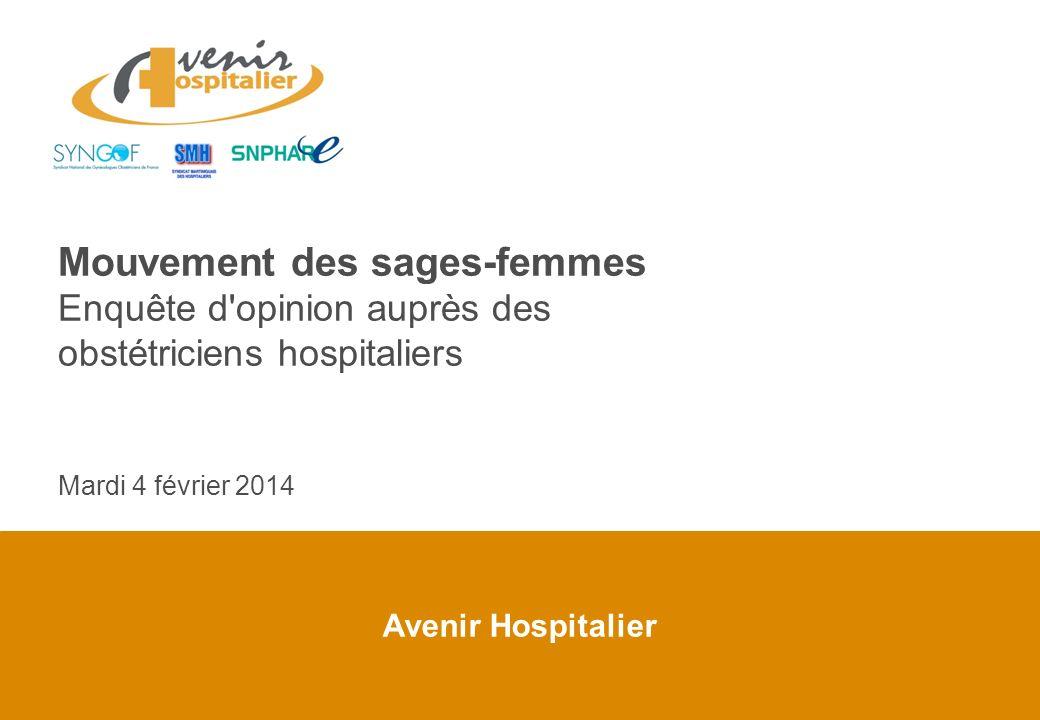 Avenir Hospitalier Mouvement des sages-femmes Enquête d'opinion auprès des obstétriciens hospitaliers Mardi 4 février 2014